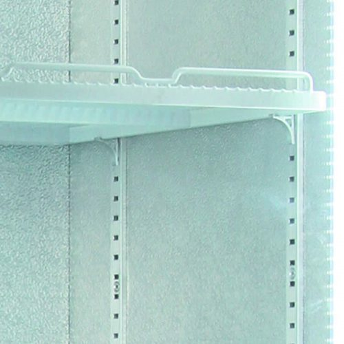 Husky Vertical Double Glass Door Commercial Freezer - Adjustable Shelving