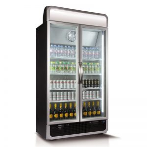Husky Double Glass Door Commercial Refrigerator
