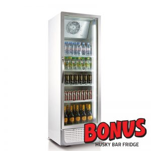 Husky Commercial Display Fridge with Bonus Offer
