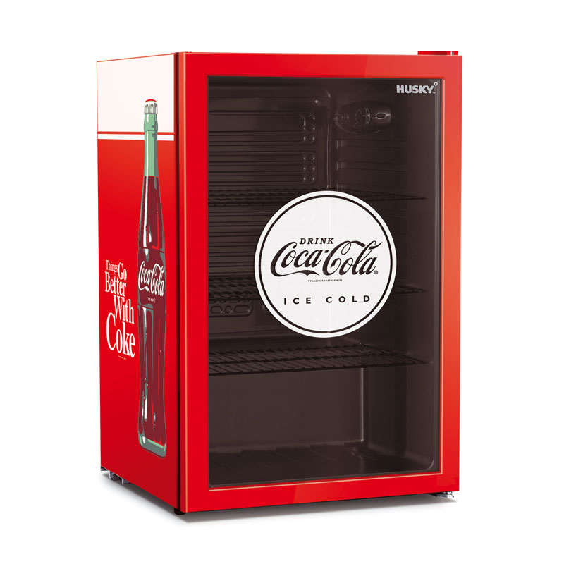 Husky Refrigeration Coca Cola Glass Door Undercounter Bar Fridge