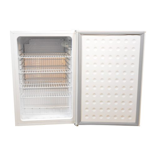 CKK110-265-AUHU - Husky 118L Solid Door Under Counter Bar Fridge in White - Door Open