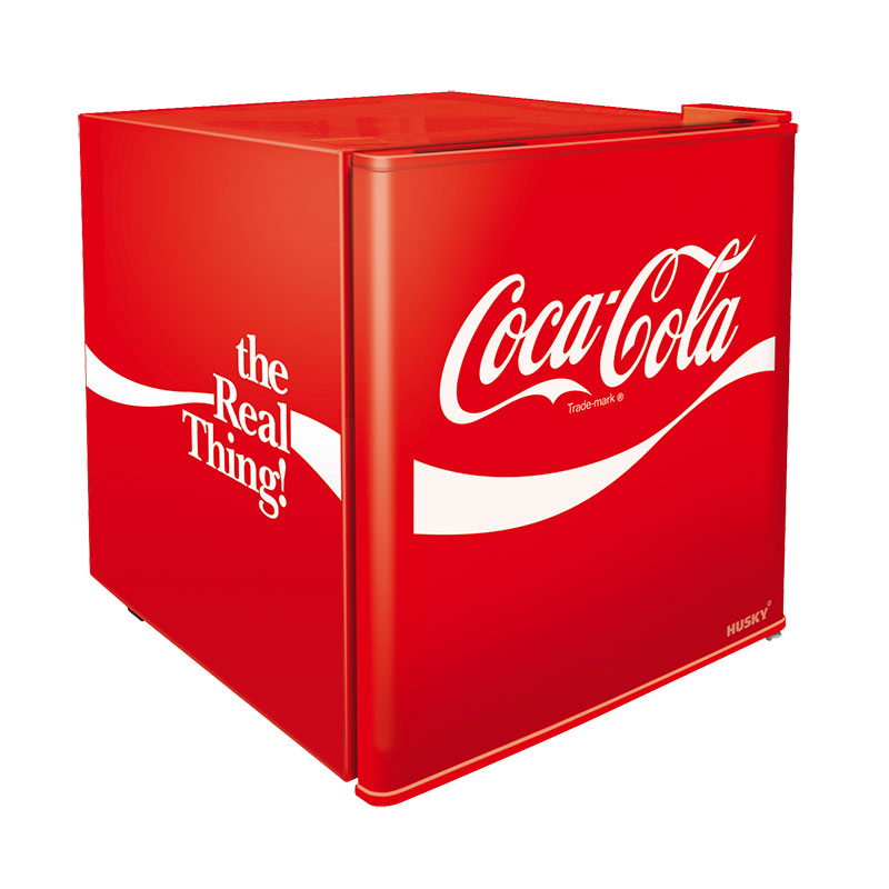 Coca-Cola Solid Door Countertop Bar Fridge by Husky