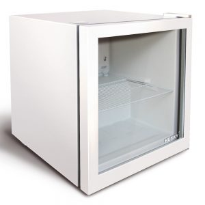 White Glass Door Compact Bar Fridge | Husky CKK50-238 46L