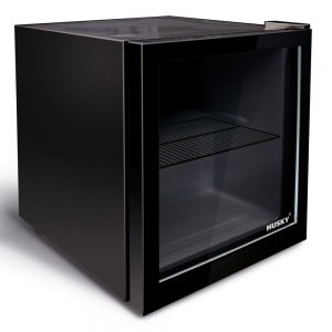 Husky CKK50 241 Black Indoor Glass Door Compact Bar Fridge