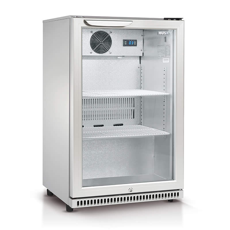 Husky Refrigeration 118 Litre Single Glass Door Bar Fridge