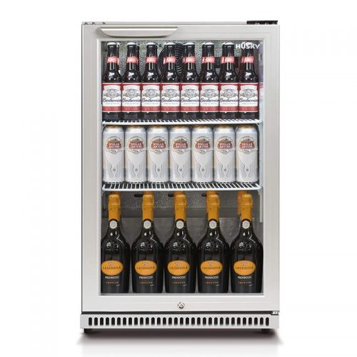 Husky Single Glass Door Bar Fridge Stocked