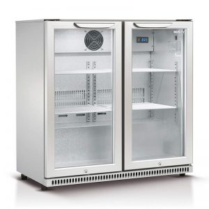Husky Double Glass Door Bar Fridge