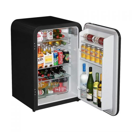 Husky Retro Bar Fridge in Black - Stocked 3