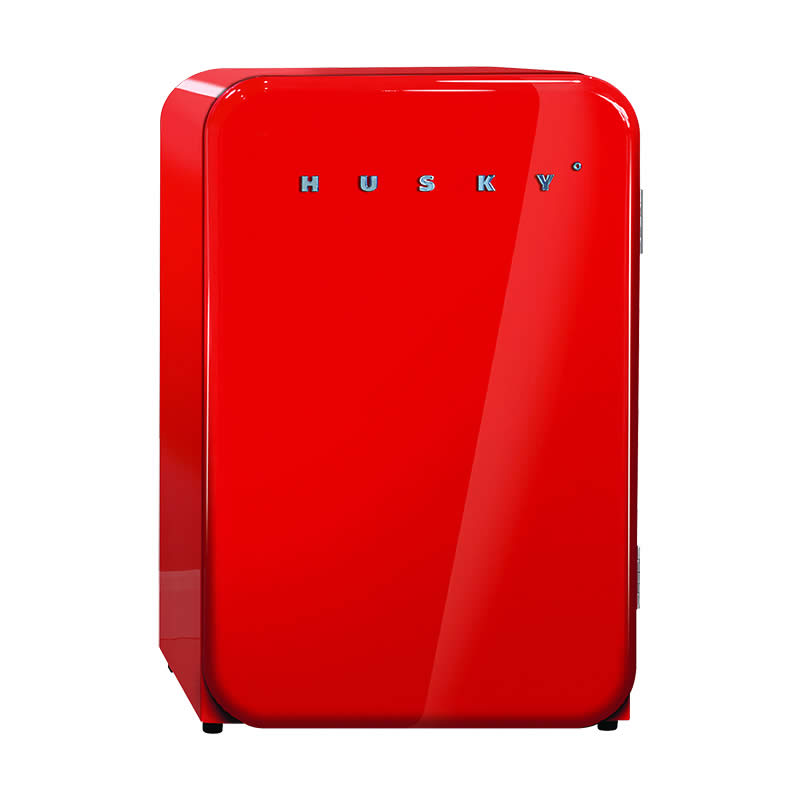 Husky Retro Bar Fridge in Red
