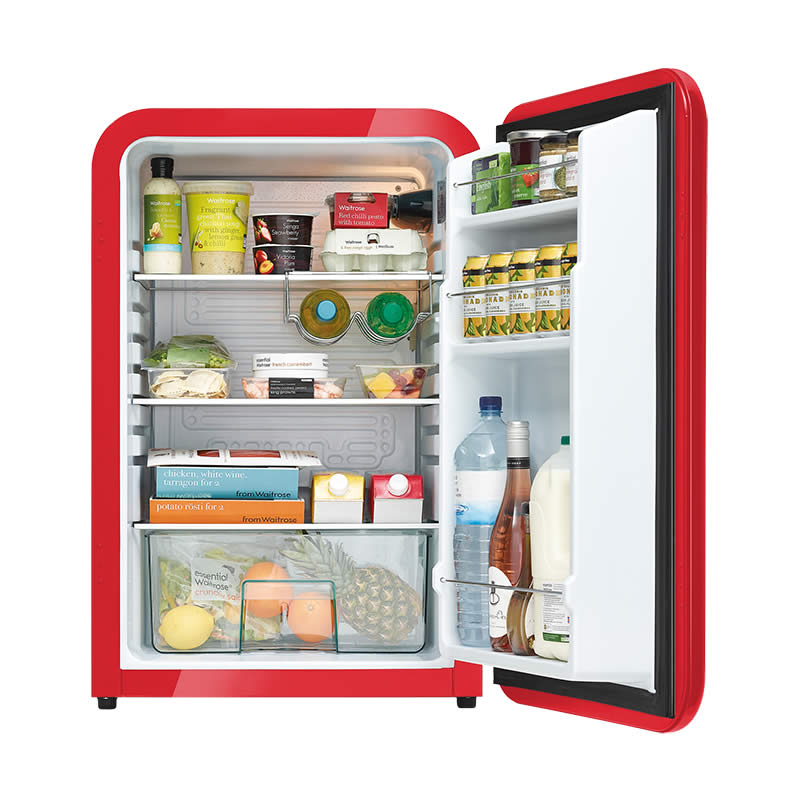 Husky Retro Bar Fridge in Red - Stocked