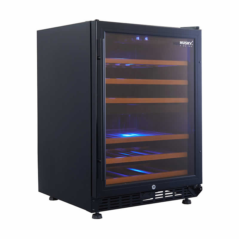 Vino Pro Dual Zone Wine Fridge in Black