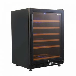 Husky Single Zone Wine Fridge in Black Trim