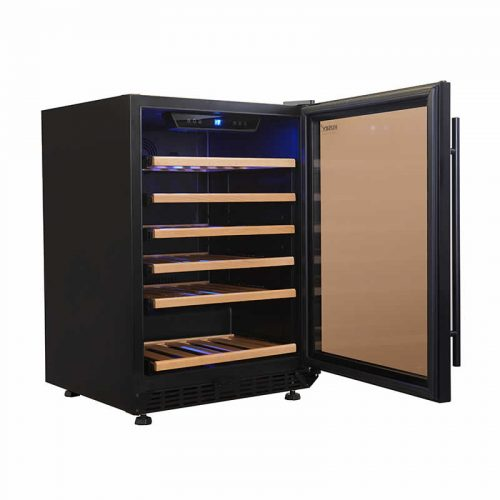 Vino Pro Single Zone Undercounter Wine Fridge in Black Trim