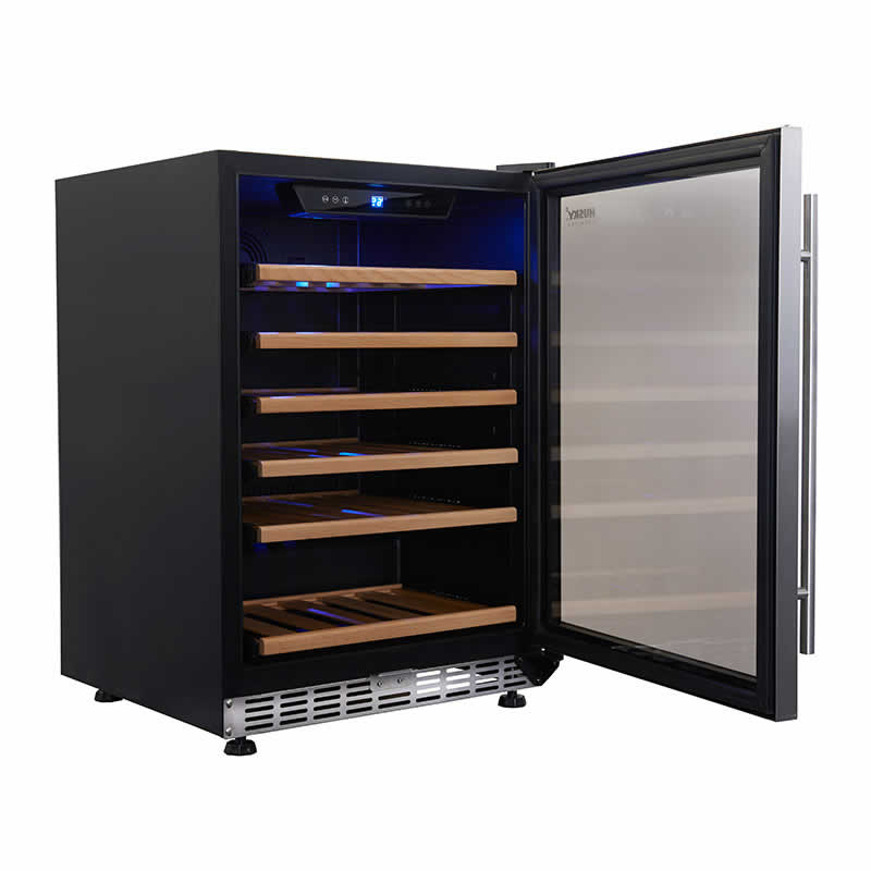 154L Single Zone Wine Fridge in Stainless Steel | HUS-WC54S-ZY
