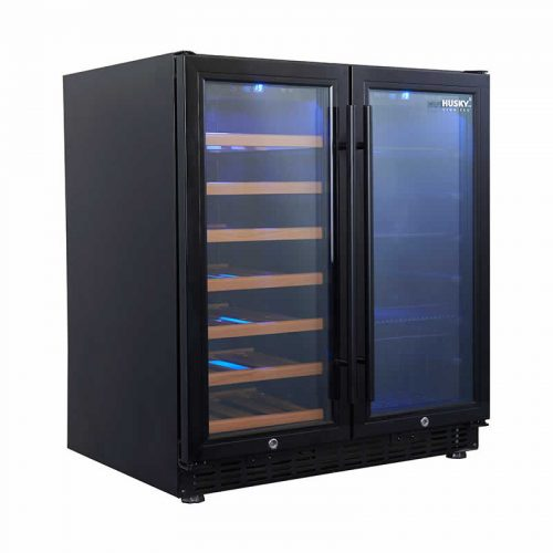 Husky Vino Pro Double Door Wine Fridge & Drink Chiller - Black