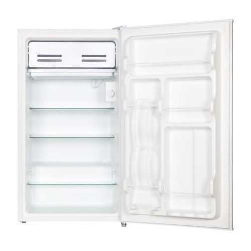 HUS-95WH - Husky 95L Solid Door Under Counter Fridge in White - Door Open