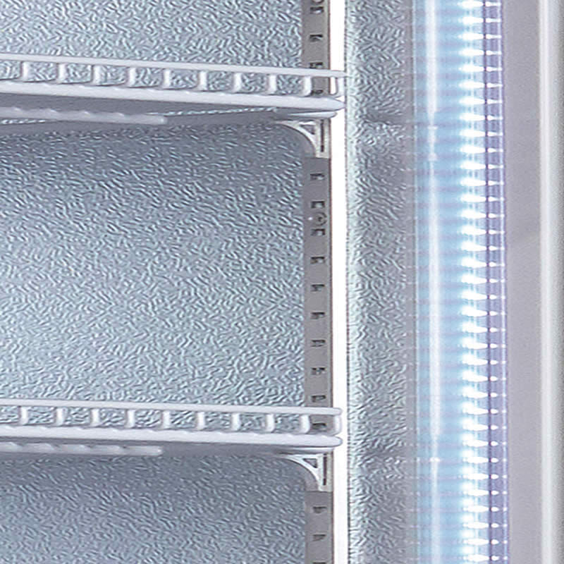 Husky Vertical Double Glass Door Commercial Freezer - LED Lighting