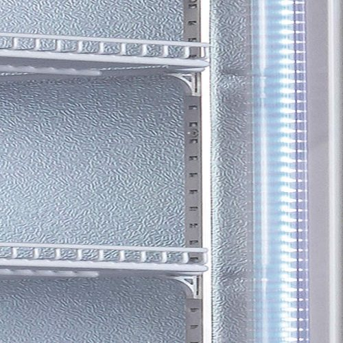 Vertical Single Glass Door Commercial Refrigerator LED Lights