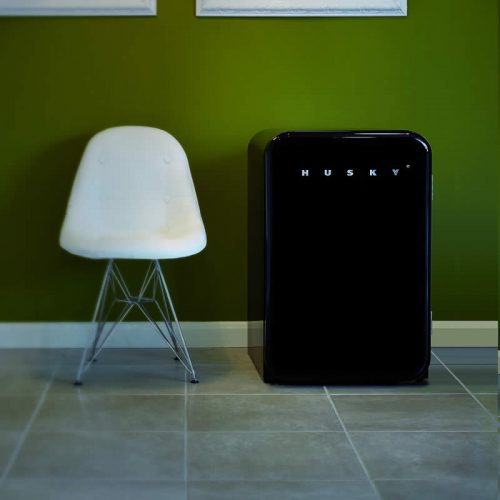 110L Retro Style Bar Fridge in Black | HUS-RETRO-110 BLK